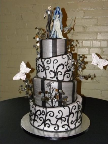Halloween Wedding Cake Design | Halloweddings! Inspiration U0026 Ideas For Halloween  Themed Weddings Part 46