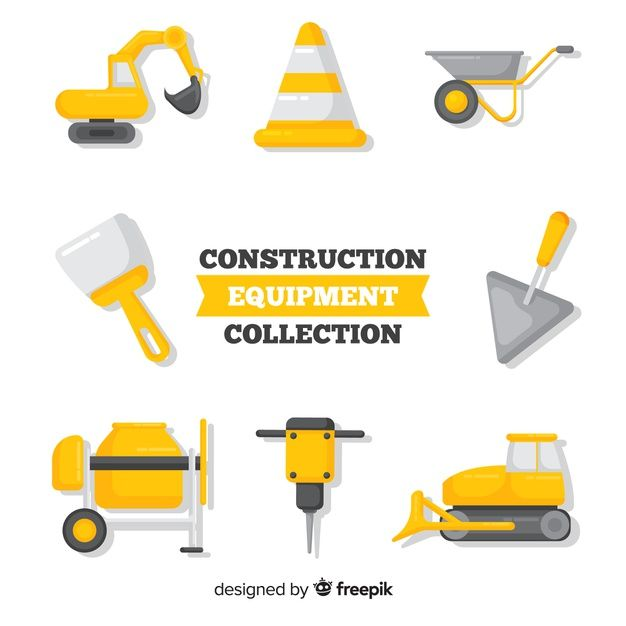 Download Flat Construction Tools Collection For Free In 2020