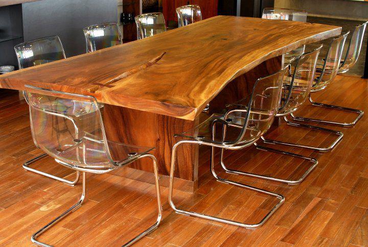 Cette table en bois est magestueuse tueuse !  h&h bois concept  Pint
