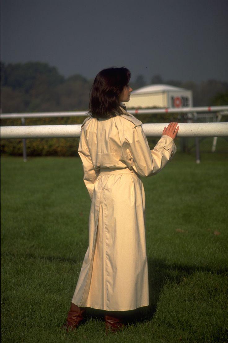 Single textured mackintosh at the Racecourse.