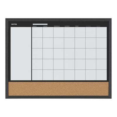 Mastervision Magnetic Wall Mounted Combo Board Magnetic Wall Magnetic White Board Wall Planner