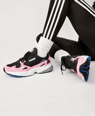 afd3cee2ae3a adidas Women s Originals Falcon Suede Casual Sneakers from Finish Line -  Black 6.5