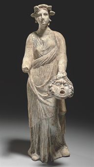 A GREEK TERRACOTTA FEMALE  CANOSAN, HELLENISTIC PERIOD, CIRCA 3RD CENTURY B.C.