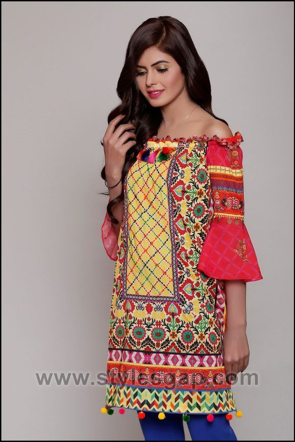 b87d6c3d8440 Summer Fashion Lawn Kurti Designs Trends Latest Collection 2018-2019