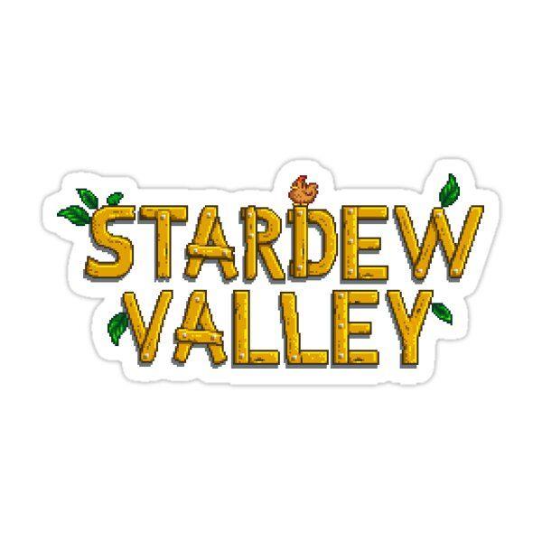 Stardew Valley Logo Sticker By Parchedchair Stardew Valley Logo Sticker Valley