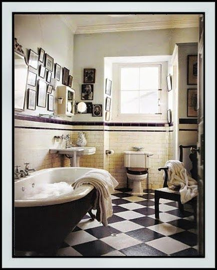 26 best Bathroom - Subway Tile images on Pinterest  Art deco bathroom, Bathroom images and ...