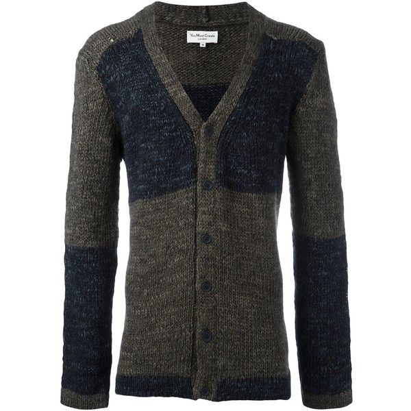 YMC V-neck cardigan ($192) ❤ liked on Polyvore featuring men's fashion, men's clothing, men's sweaters, blue, mens v neck cardigan sweater, mens cardigan sweaters, mens vneck sweater, men's v neck sweater and mens blue sweater