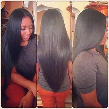 """10""""-28"""" Natural Color Full Lace Human Hair Wigs Brazilian Virgin Hair Silk Straight Full Lace Wig for Black Women 2015 – $152.09"""
