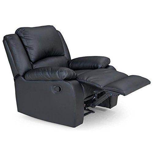 Usinestreet Fauteuil Relaxation 1 place Simili cuir DETENTE - Couleur - Noir 997b80365621