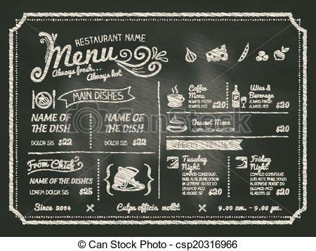 ベクター - レストラン, 食物, メニュー, デザイン, 黒板, 背景 - ストックイラスト, ロイヤリティーフリーイラスト, ストッククリップアートアイコン, ロゴ, ラインアート, EPS画像, 画像, グラフィック, ベクター画像, アートワーク, EPSベクターアート