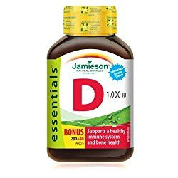 Jamieson Vitamin D 1000(UI) supplements me especially in the winter month's when we are exposed to less sunshine! I have been taking for years, my bone density is of a 30 year old and I am in…