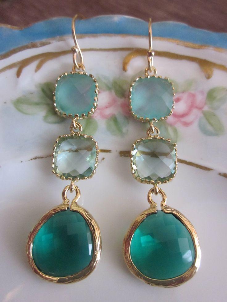 25 best ideas about emerald green earrings on