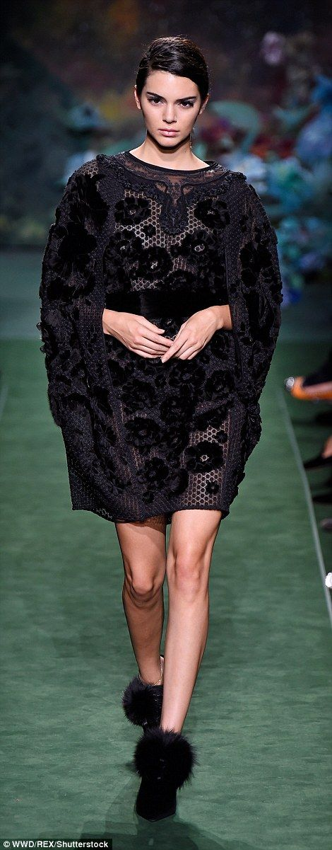 Bella Hadid stormed the runway at the Fendi show in Paris on Wednesday, joined by close friend and fellow model of the moment Kendall Jenner.