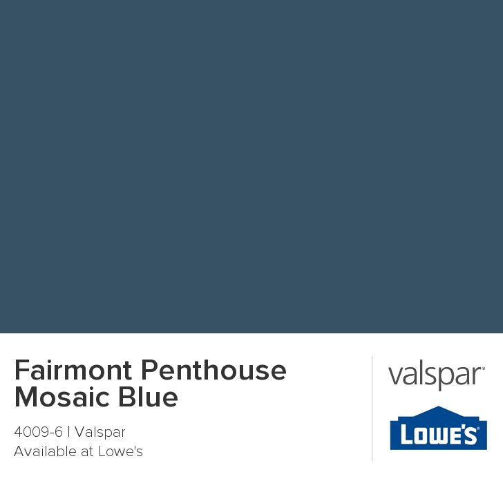 Fairmont Penthouse Mosaic Blue From Valspar Kitchen