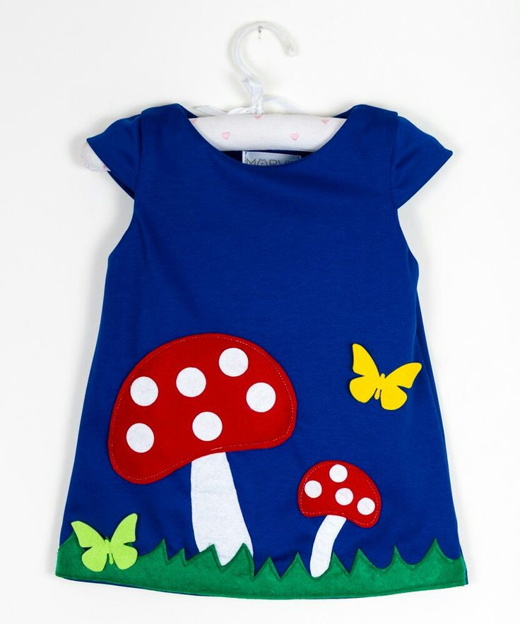 Felt applique dresses girls winter autumn dresses