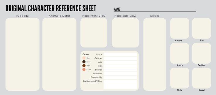 OC Sheet Template By Zipporadeviantartcom On DeviantArt 1 Templates Character Design