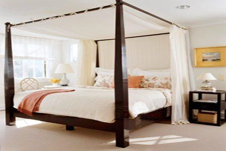 M s de 1000 ideas sobre marcos de cama de matrimonio en for Cortinas blancas dormitorio