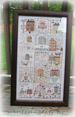 Blackbird Designs Anniversaries of the Heart stitched by Carolina Stitcher. Gorgeous