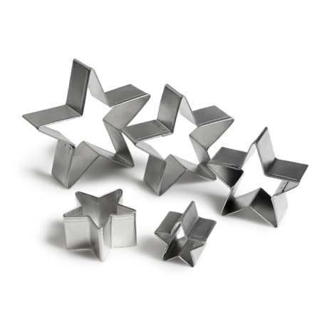 Star Cookie Cutters, set of 5 8.95 #hughes