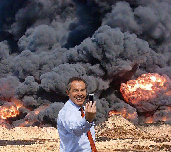 Selfie Tony Blair. By Kennard Phillips. Embedded image permalink