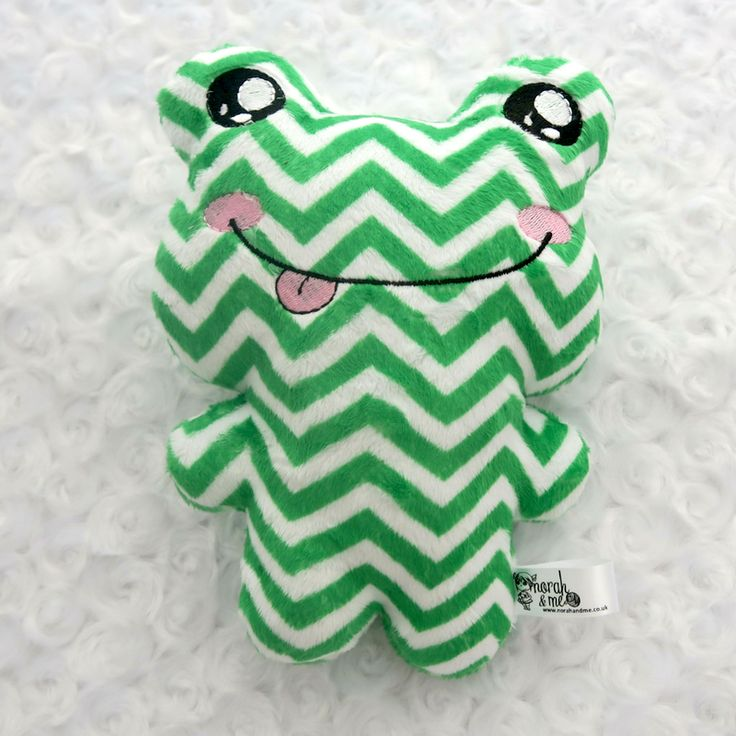Green chevron frog, patterned frog prince, dolls and daydreams, ce marked