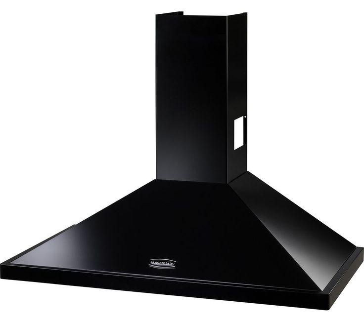 RANGEMASTER LEIHDC60BC Chimney Cooker Hood - Black & Chrome