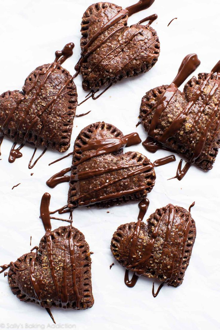 How to make delicious, warm, and gooey chocolate hand pies with chocolate pie dough and chocolate ganache filling!