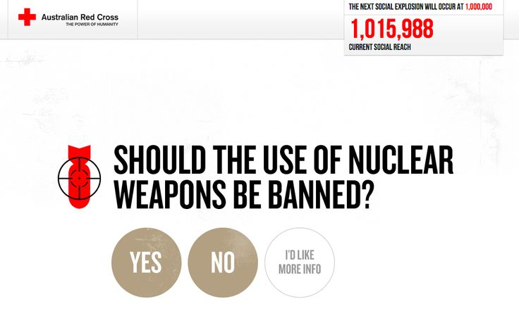 http://targetnuclearweapons.org.au/ - single call to action