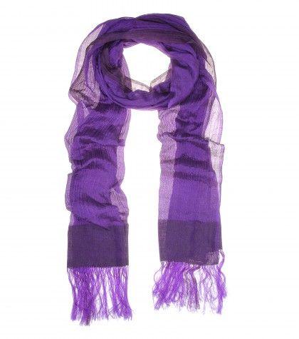 #HaiderAckermann - Feather yak and silk-blend scarf