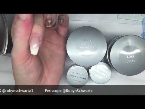French Ombre Sculpted Gel Nail - YouTube