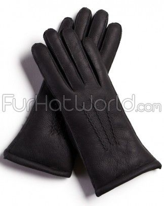Womens Napa Leather Shearling Sheepskin Gloves - Black. Soft suede leather finish with a silky soft & warm natural sheepskin wool inner. Made from 100% merino sheepskin $59.95