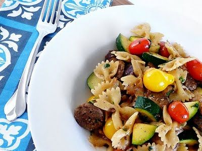 Italian sausage pasta - perfect for summer