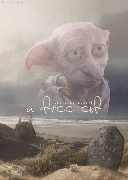 I loved dobby so much, cried my eyes out when he died :'(