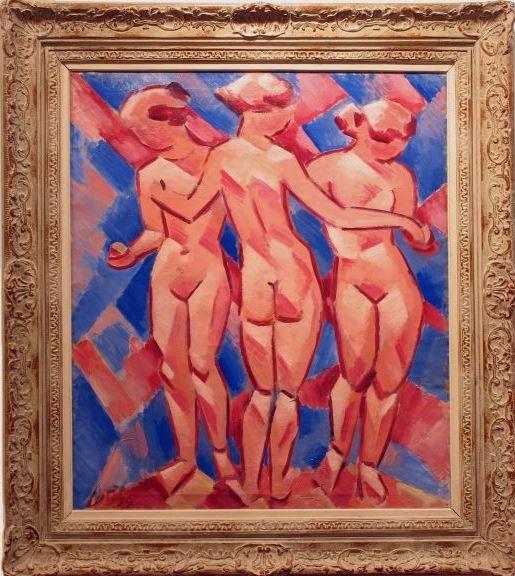 Václav Špála . Three Graces #painting #Czechia #art