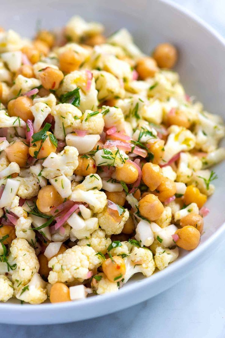 Herby Cauliflower Salad With Chickpeas
