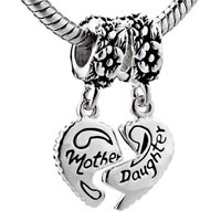 #charmbracelets #charms #jewelry #jewellery #pandora #pandorabracelet  #mom #Mother And #Daughter 925 #SterlingSilver #heart Style Bead