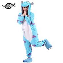 Shineye Sullivan Unisex Adulto Flanela Casuais Com Capuz Pijamas Cosplay Animal Dos Desenhos Animados Onesies Pijamas Para As Mulheres Homens(China (Mainland))