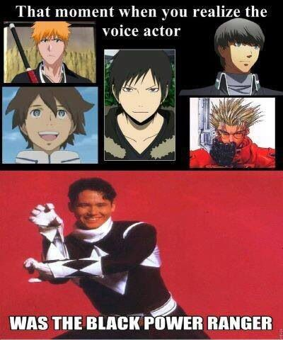 Who knew Johnny Yong Bosch was ichigo from bleach, Renton Thurston from Eureka Seven, Durarara!!Orihara, Vash the stampede, and you from persona 4.