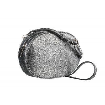 50c478b858 Cena 69€ Ponúkame pre Vás túto malú oválnu dámsku koženú crossbody kabelku  v striebornej farbe