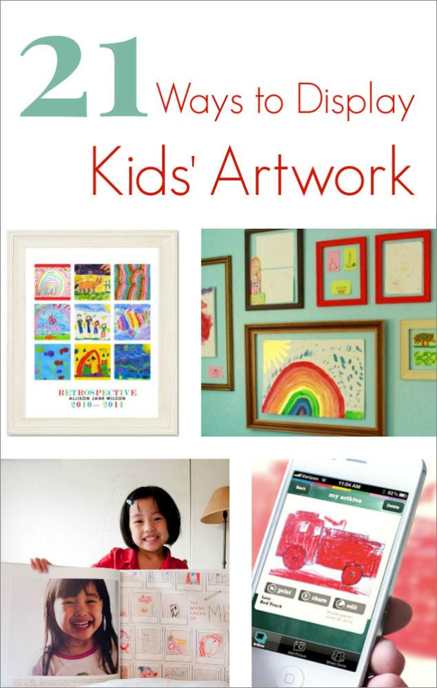 21 Ways to Display Kids Artwork - Great ideas for modern families!