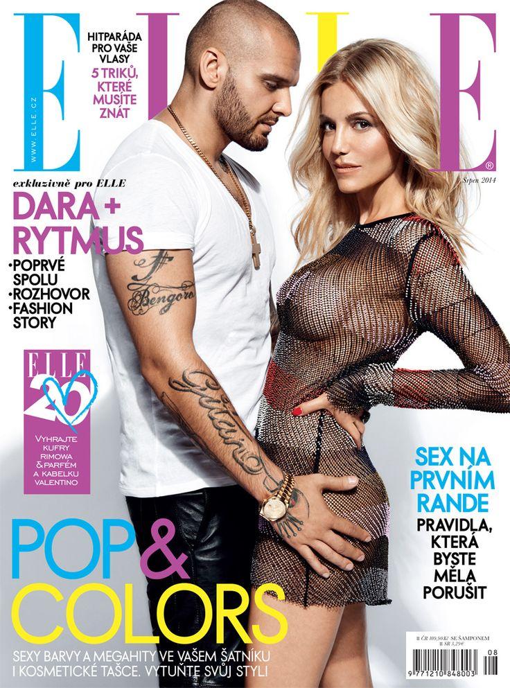 Dara Rolins & Rytmus - Elle Magazine Cover [Czech Republic] (August 2014)