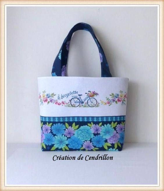 SUR COMMANDE SAC brodé/Tote bags/Diaper bags/ Shoulder handbags/ Сross Stitch /Made and embroidered/Sac femme/ bicyclette