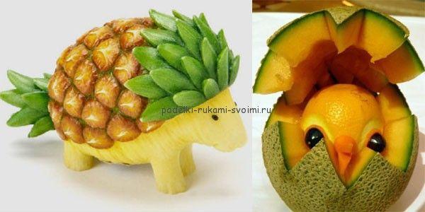 Осенние поделки из овощей и фруктов. Детские поделки в садик