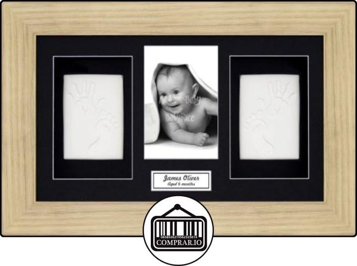Anika-Baby Kit de moldeo de huellas de pies y manos de bebés (de la arcilla (y un marco talla XL efecto roble con paspartú, 4fotos negro/blanco  ✿ Regalos para recién nacidos - Bebes ✿ ▬► Ver oferta: http://comprar.io/goto/B00I450KHG