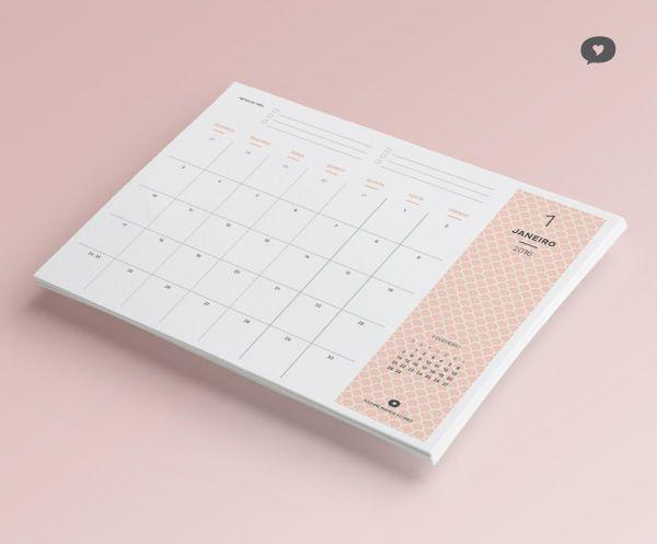 Planner 2016 – mensal e semanal download gratuito do blog Não Me Mande Flores! Só clicar na imagem!