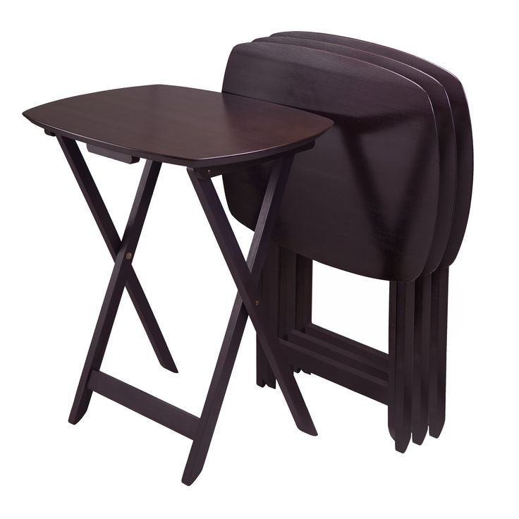Winsome Curved TV Table in Dark Espresso (Set of 4)