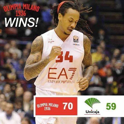 Bella vittoria dell'Olimpia Milano sulla squadra di Malaga