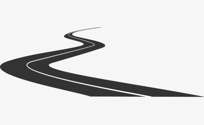 Black Cartoon Winding Road Black Cartoon Winding Road Road Drawing