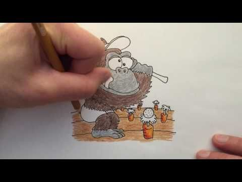 Watch me draw a Goofy Gorilla Golfing in a Garden, words that start with the letter G.