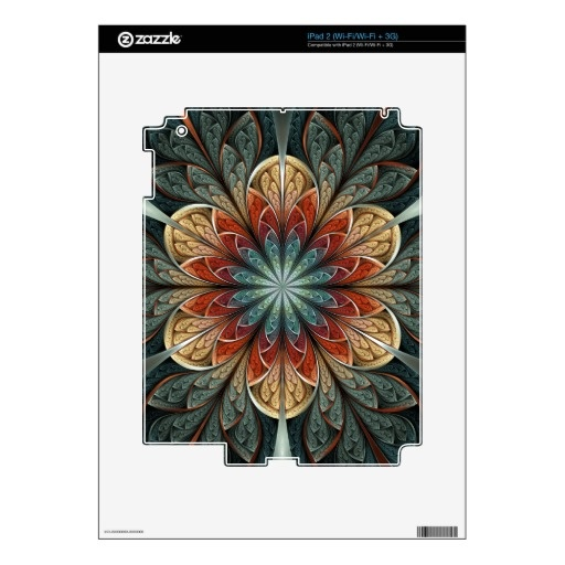Secret Garden Abstract Fractal Art Skins For iPad 2 $31.75